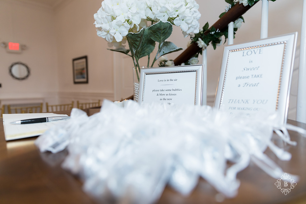 Rust Manor House wedding guest book details