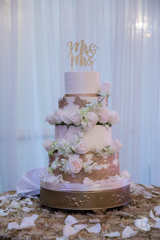 Northern Virginia Desi South Asian wedding Cherry Blossom Restaurant cake