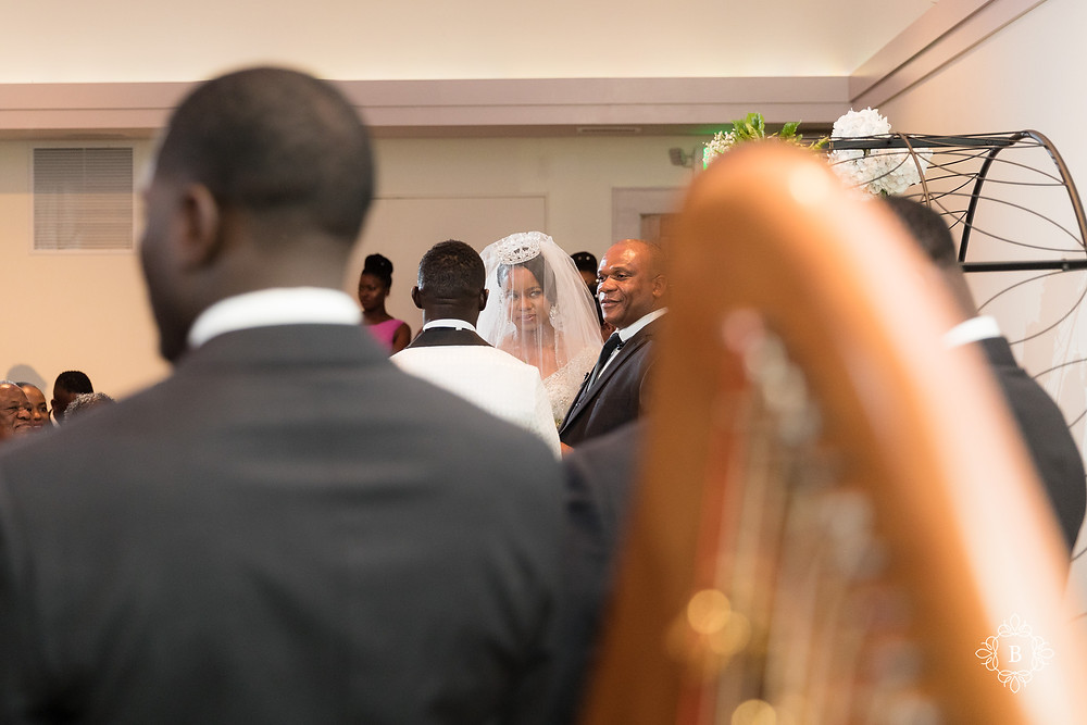 Northern Virginia Culpeper Center and Suites wedding ceremony bride and groom