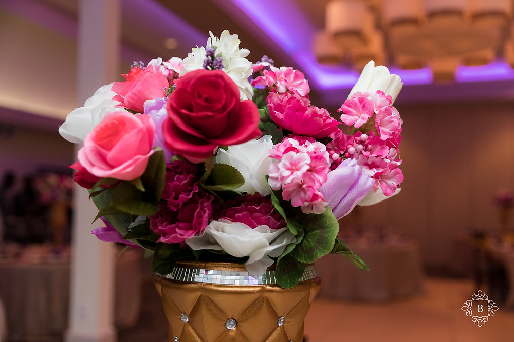 Northern Virginia Culpeper Center and Suites venue reception details flower table settings