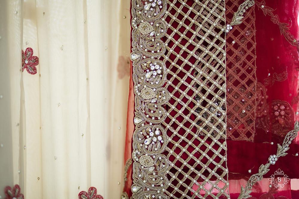 Northern Virginia Desi South Asian wedding bridal details wedding dress