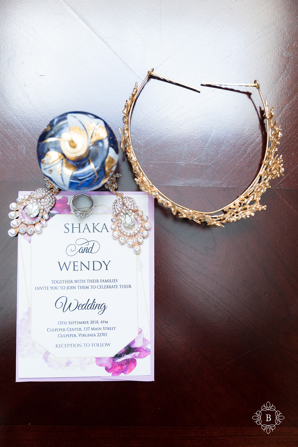Northern Virginia Culpeper Center and Suites bridal details jewelry and perfume