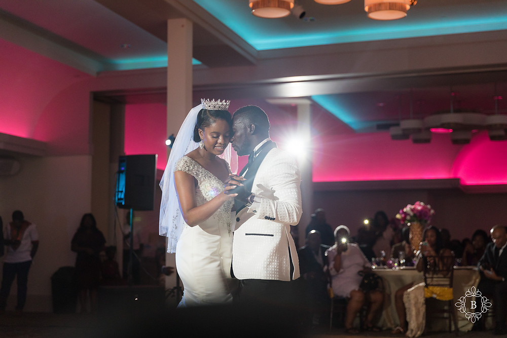 Northern Virginia Culpeper Center and Suites wedding reception bride and groom first dance