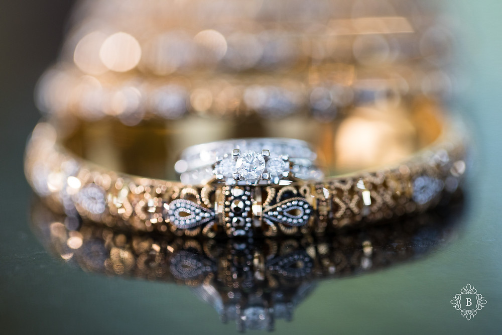 Northern Virginia Desi South Asian wedding bridal details wedding ring and bangles