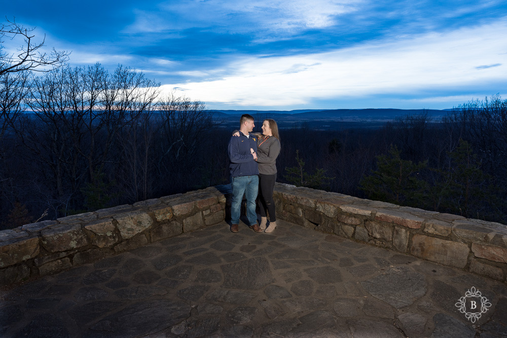 Northern Virginia Loudoun County engagement Sugar Loaf Mountain sunset engagement