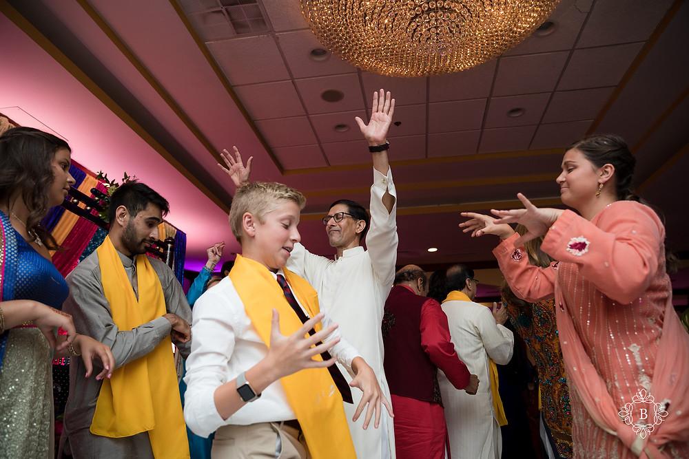 Northern Virginia Desi South Asian Mehndi ceremony dancing Cherry Blossom Restaurant