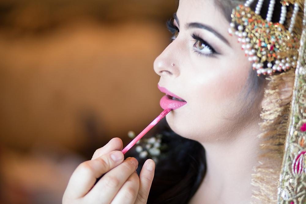 Northern Virginia Desi South Asian Mehndi preparation makeup