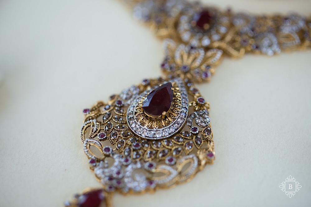 Northern Virginia Desi South Asian wedding bridal details necklace