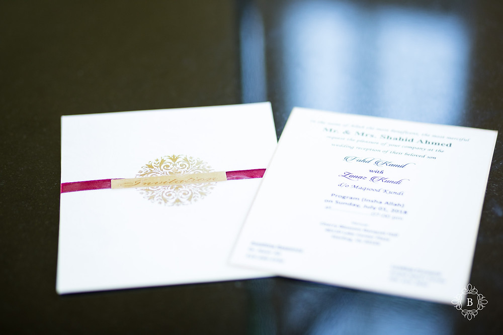 Northern Virginia Desi South Asian wedding bridal details wedding invitation