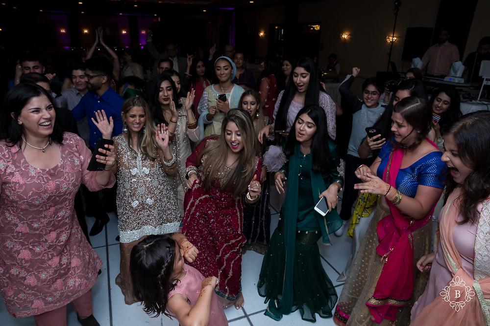 Northern Virginia Desi South Asian Cherry Blossom Restaurant wedding reception dancing