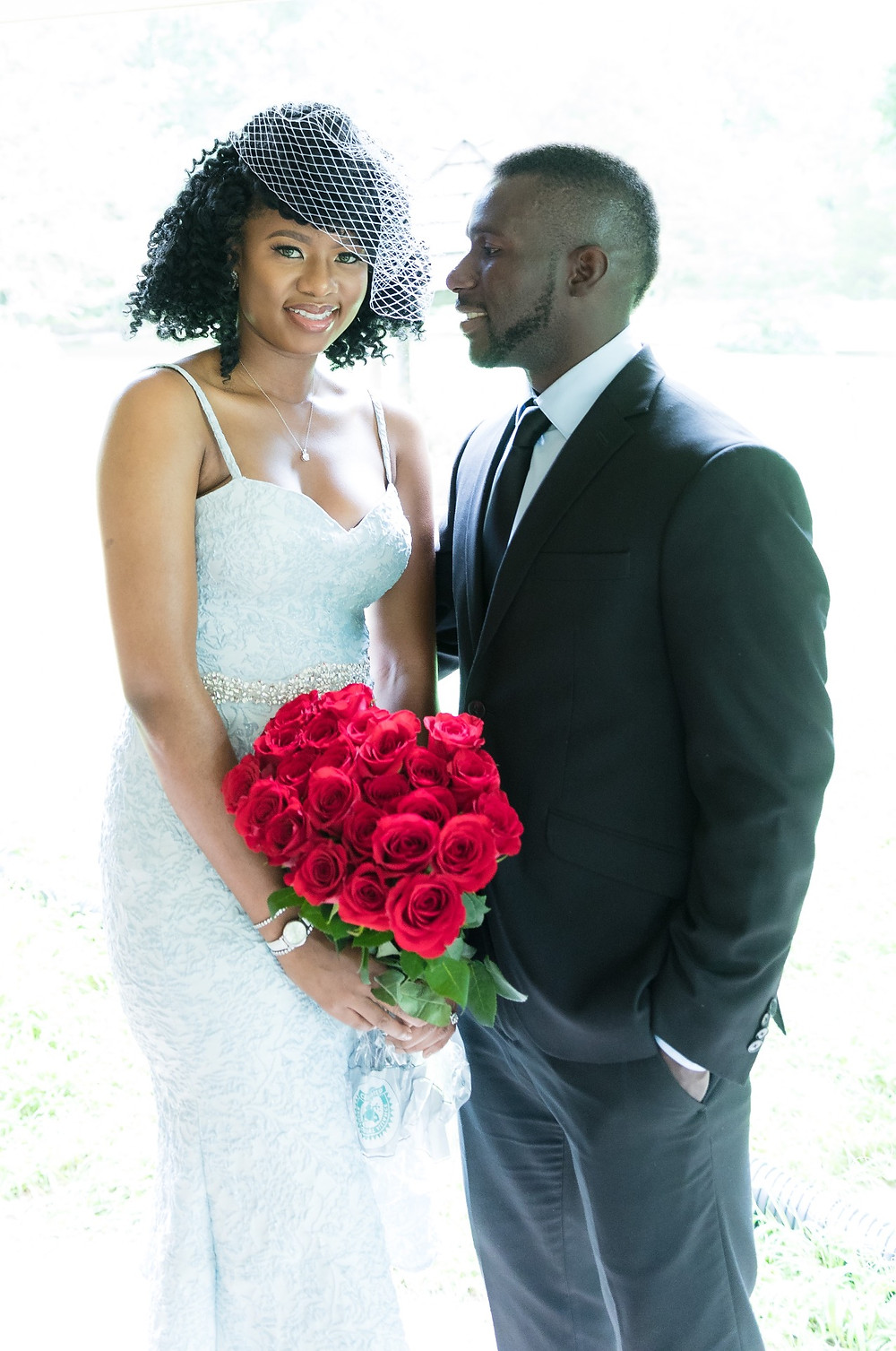 Engagement session with roses at Middlegate Manor in Cabell's Mill.
