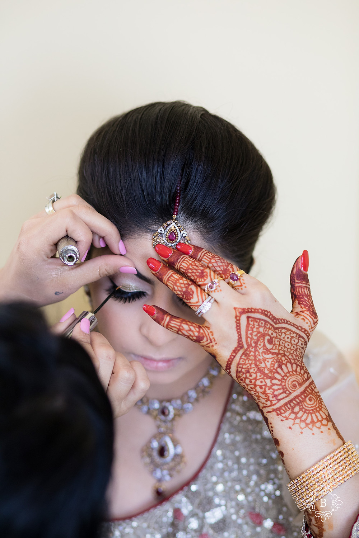 Northern Virginia Desi South Asian wedding prep makeup