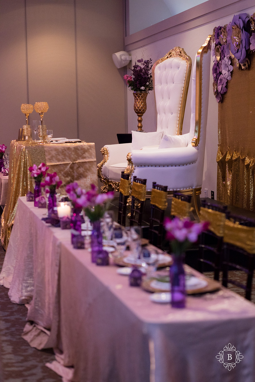 Northern Virginia Culpeper Center and Suites venue reception details bridal party table