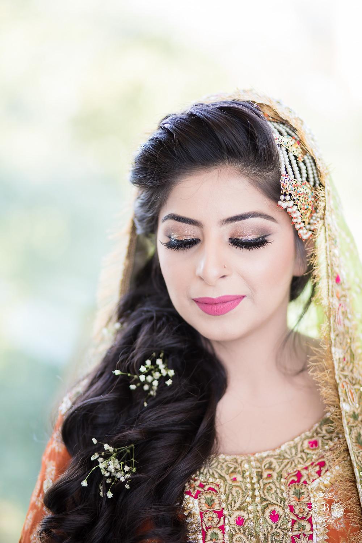 Northern Virginia Desi South Asian Mehndi bridal portrait