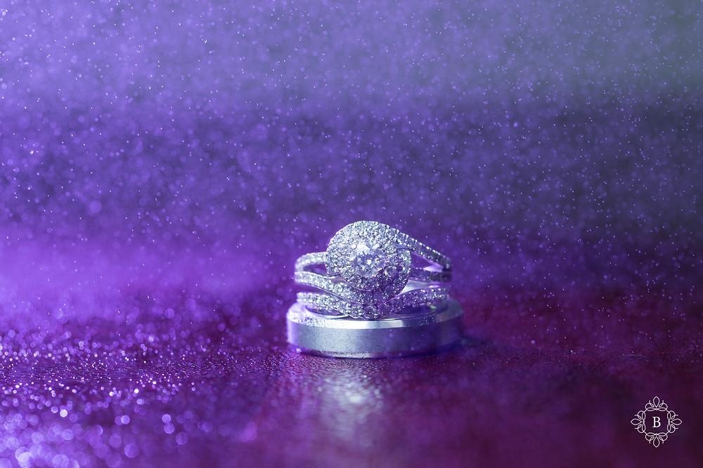 Northern Virginia Culpeper Center and Suites bridal details wedding ring purple mist