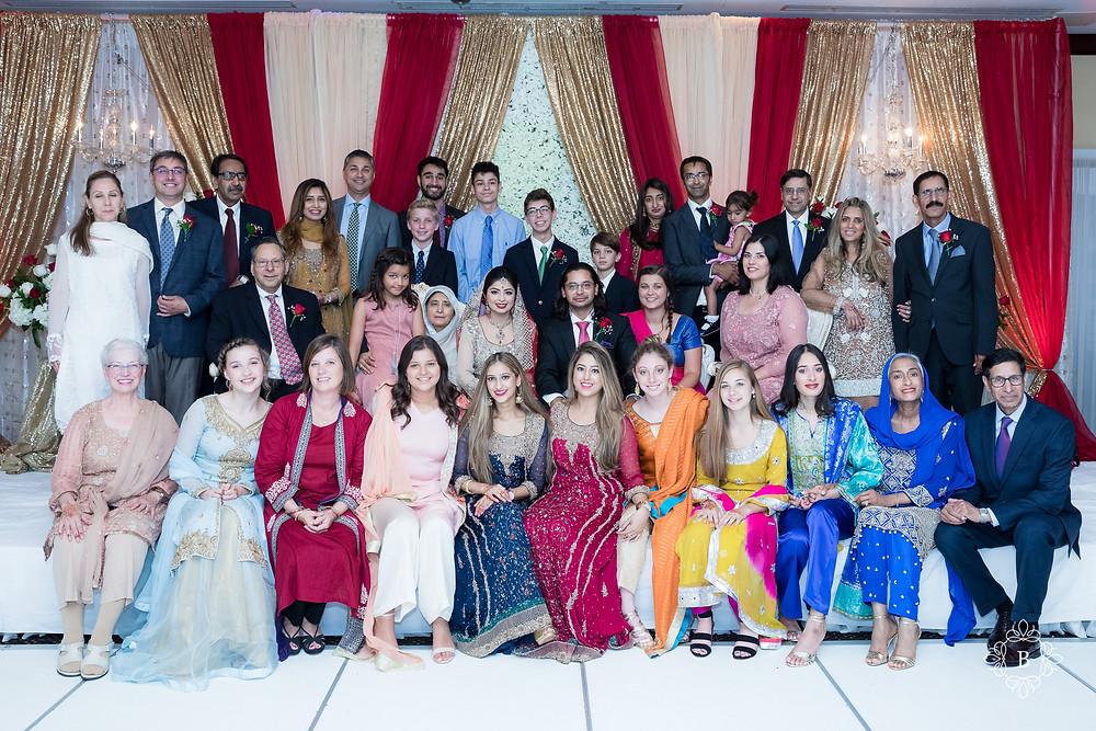 Northern Virginia Desi South Asian Cherry Blossom Restaurant wedding reception