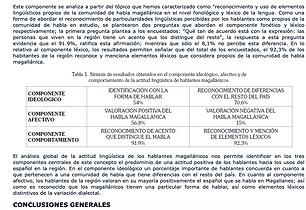 ARTÍCULO  La actitud linguística en la comunidad de habla de Magallanes: aproximación a sus componentes básicos