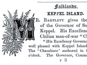 Importación de las primeros rebaños ovinos a Magallanes desde la isla Keppel (archipiélago de las Falkland)