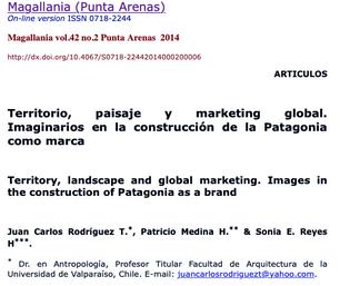 Territorio, paisaje y marketing global. Imaginarios en la construcción de la Patagonia como marca
