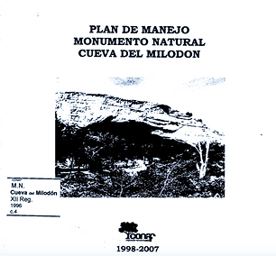 Plan de Manejo del Monumento Natural Cueva del Milodon