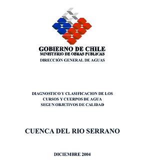 DIAGNOSTICO Y CLASIFICACION DE LOS CURSOS Y CUERPOS DE AGUA - CUENCA DEL RIO SERRANO