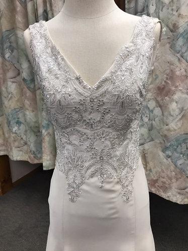 'Darla' Low Back Chiffon Wedding Gown