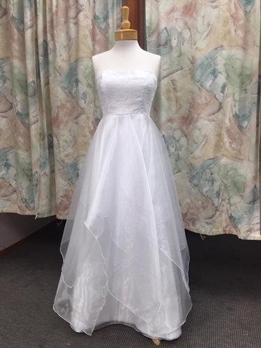 'Meghan' Tiered Skirt Wedding Dress