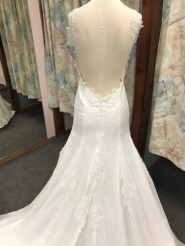 'Joslyn' Chiffon Mermaid Wedding gown