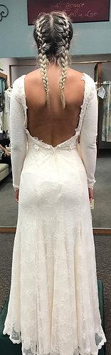 'Britten' Open Back Long Sleeve Lace Wedding Gown