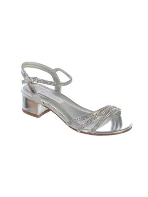 Rhinestone Flower Girl sandals with Heel