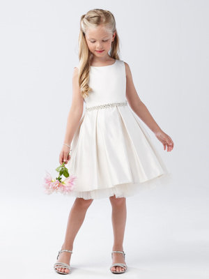 Satin Pleated Flower Girl dress WITH POCKETS!
