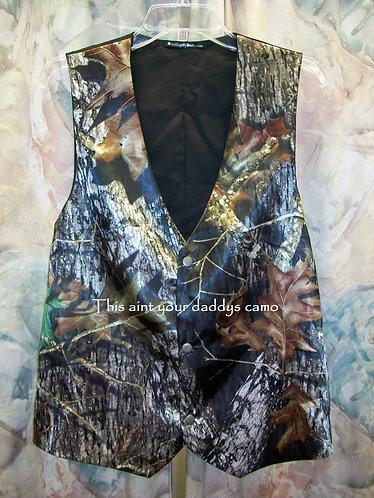 Men's Satin Camo Vest