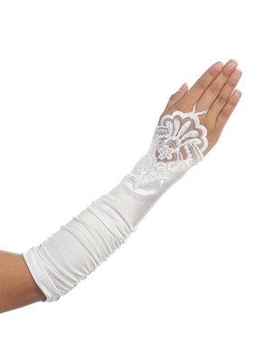Women's Fingerless Lace Elbow Length Glove