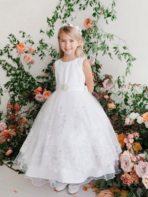 Lace Applique Skirt Mini Bride/Flower Girl Dress