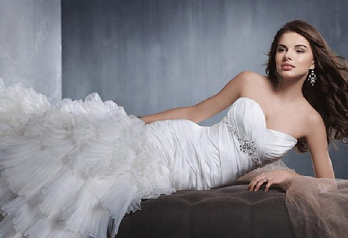 Alfred Angelo 2308 White Plus Size 24 Wedding Gown