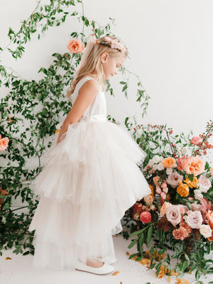 Hi-lo Tutu Flower Girl Dress