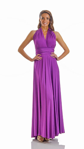 Long Convertible Jersey Bridesmaid Dress