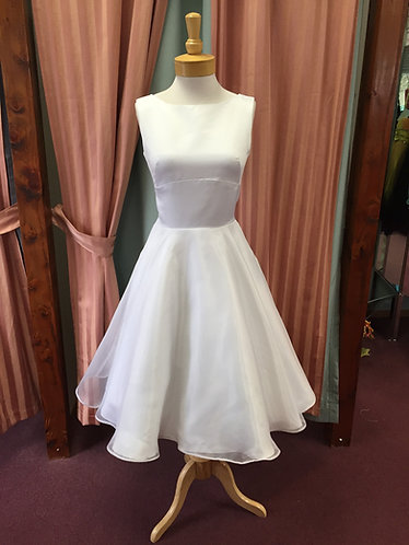 'Bette' 1950's Inspired T length Wedding Gown