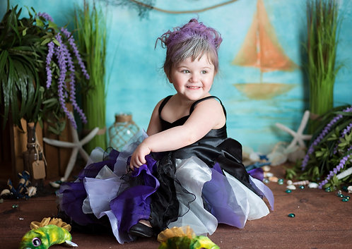 Ursula Ruffle Skirt Girls Dress