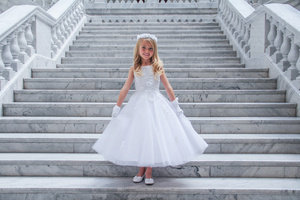 Lace Applique Mini Bride/Flower Girl Dress