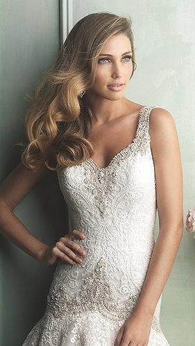 Allure Bridals 9127 Drop Waist Wedding Gown STUNNING!
