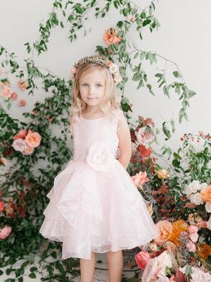 Organza Layered Flower Girl Dress