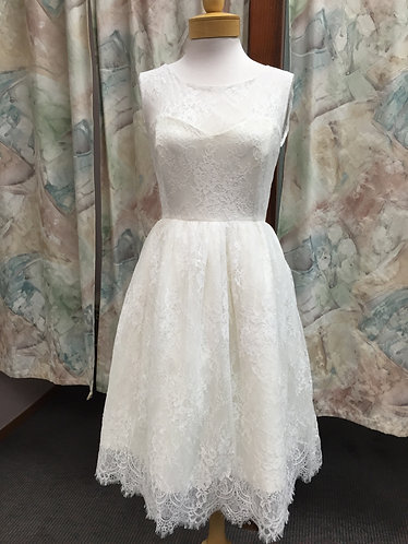 'Jenny' Lace T length Wedding Gown
