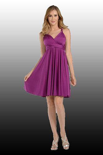 Short Convertible Jersey Bridesmaid Dress