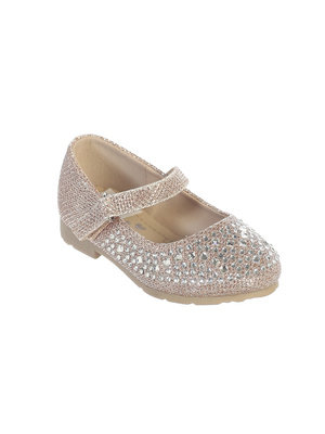 Toddler Flower Girl Metallic Flats