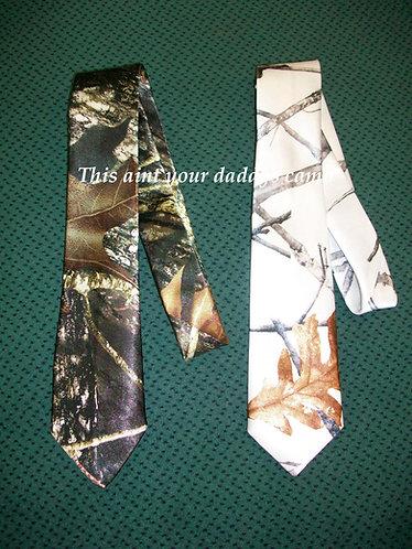 Boy's Satin Camo Neck Tie
