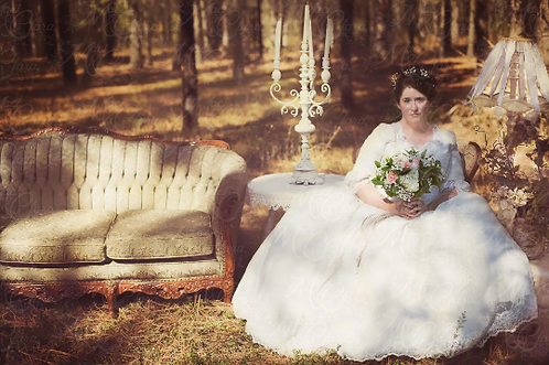 'Victoria' Classic Victorian Style Wedding Gown