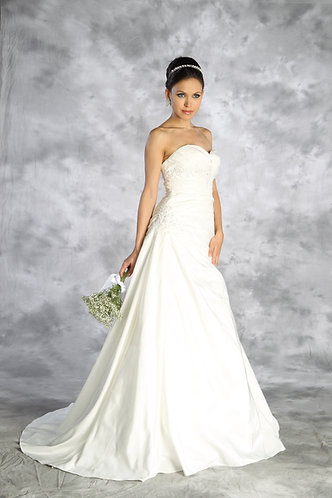 Strapless Taffeta Embellished Wedding Gown