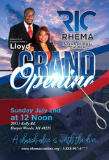 Rhema International Grand Opening Flyer-