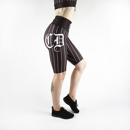 Black Baseball Cycle Shorts